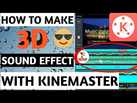 How to make 3d sound with kinemaster