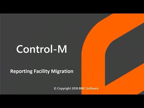 Control-M Reporting Facility Migration