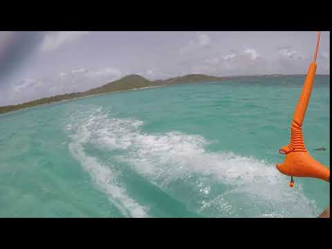 Kiteboarding witht 40knots antigua