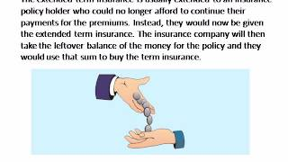 Extended Term Insurance Basic Information on How It Works