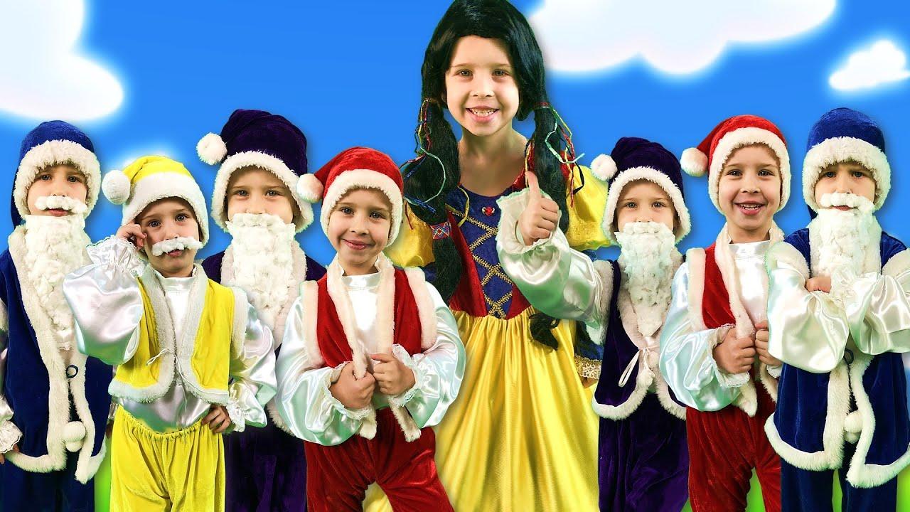 Белоснежка и семь гномов + Снежная королева | Сказки на ночь для детей