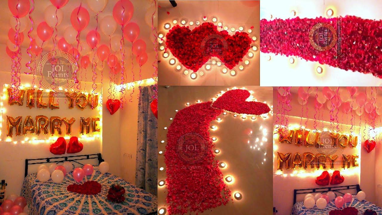 First Night Bedroom Decoration Ideas Wedding Night Romantic Decoration Youtube