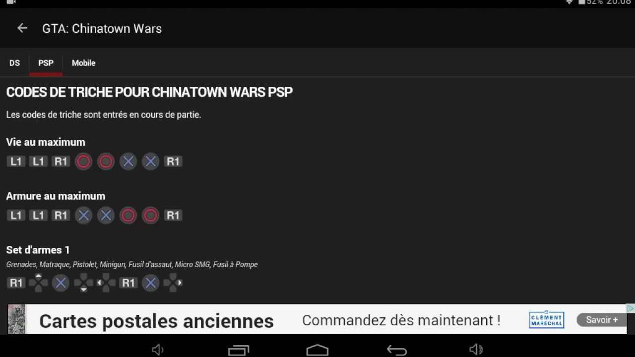 sauvegarde gta chinatown wars psp