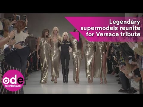 Legendary supermodels reunite for Versace tribute