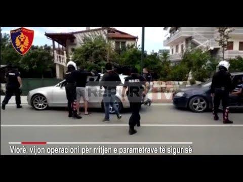 Report TV - Makinat luksoze, pas Elbasanit policia aksion masiv në Vlorë