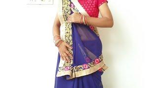 गुजराती साड़ी पहनना सीखें / How to drape Gujarati Saree full tutorial step by step