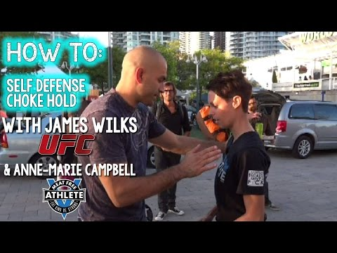 How To: Self Defense Choke Hold with Vegan MMA Fighter, James Wilks
