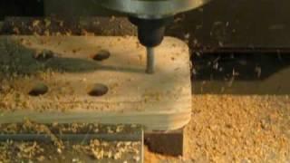 Solid oak Mancala game board fabrication
