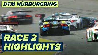 Albon wins chaotic race   DTM Nürburgring 2021 Race 2   Highlights