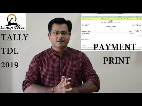 Tally ERP 9 TDL 2019 | Payment Voucher Printing