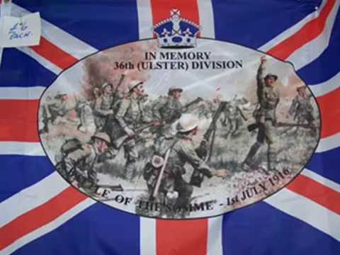 Battle of the Somme 100 years Tribute to the 36th Ulster Division