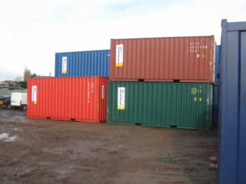 20ft Shipping Container >> How to unload a Shipping Container, Forklift Truck. Bell Container Hire Fleet, 20ft Hi Cube Unit ...