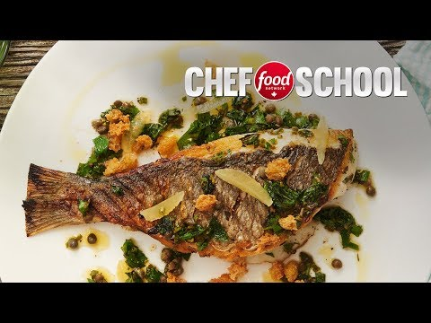 How To Prepare And Grill Sea Bream With Fresh Herbs | Chef School