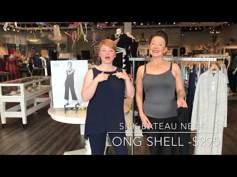 Shepherd's Wardrobe Wednesday - Silk Bateau Neck Long Shell -  Eileen Fisher System