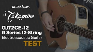 Natural Takamine GJ72CE-12 G Series 12-String Electroacoustic Guitar TEST