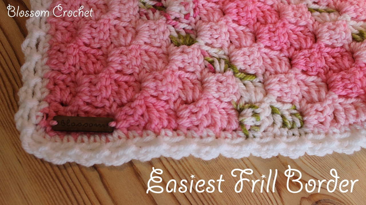 Easiest Crochet Border Ever! Simple Frills - YouTube