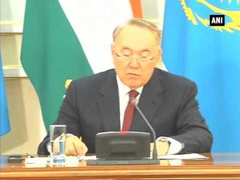 PM Narendra Modi and Kazakhstan President Nursultan Nazarbayev give joint statement in Astana (P-2)