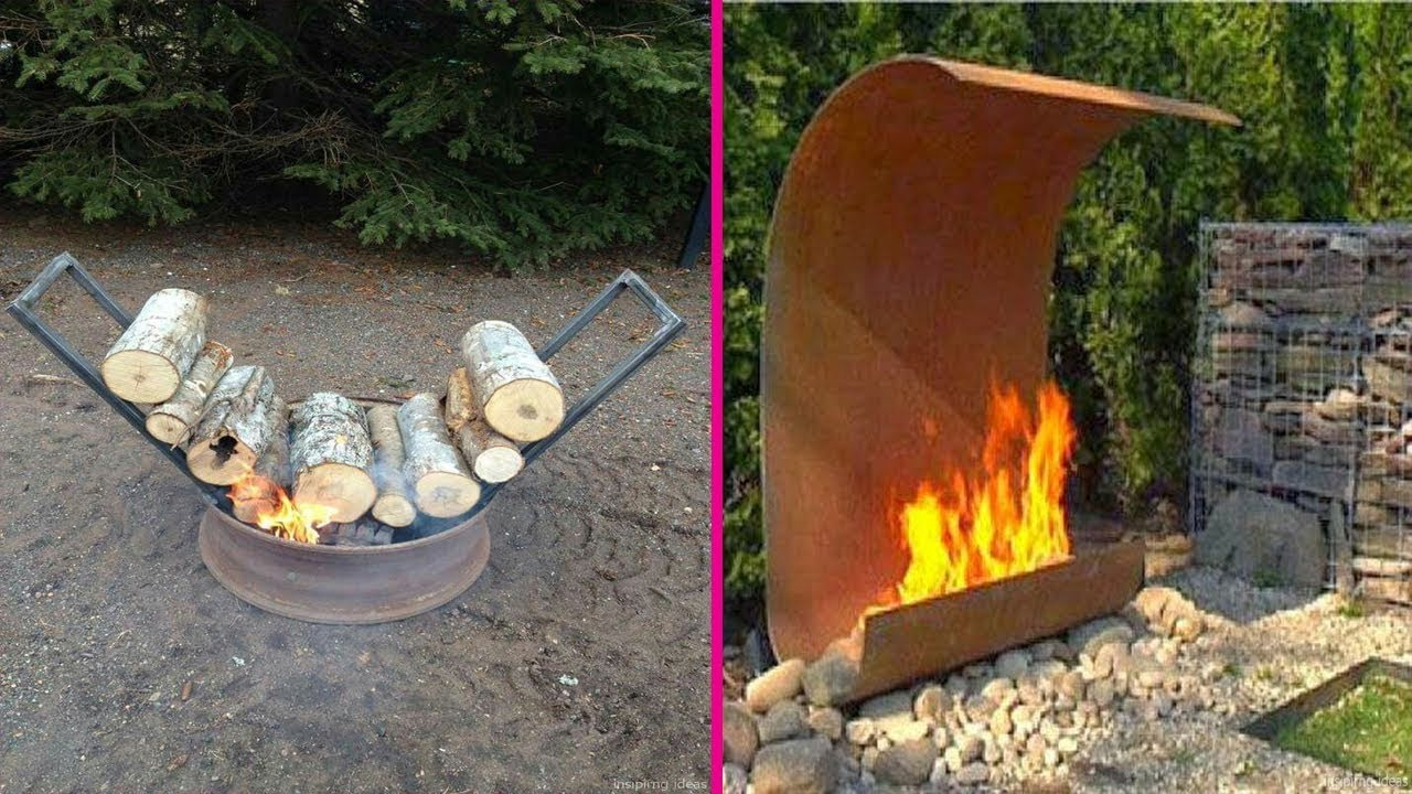 Diy backyard fire pit design creative 2018 stone steel for How do i build a fire pit