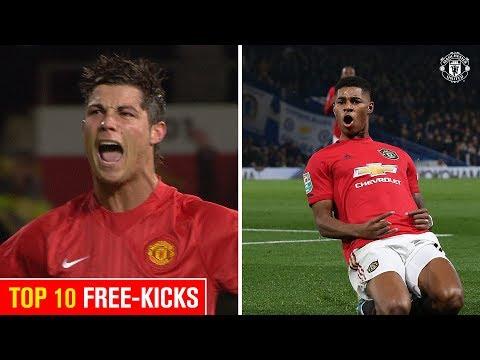 Ronaldo Or Rashford? I Top 10 Free-Kicks I Manchester United