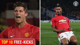 Ronaldo or Rashford I Top 10 Free-Kicks I Manchester United