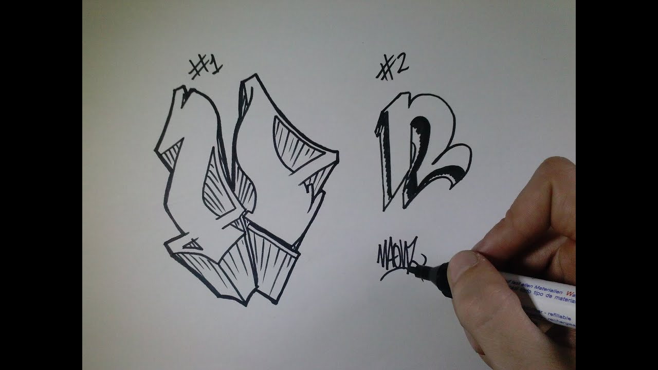 "Draw Graffiti Letter """" Paper"