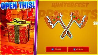 How To Get SHORTBREAD SLICERS and OPENING PRESENTS in Fortnite Winterfest!