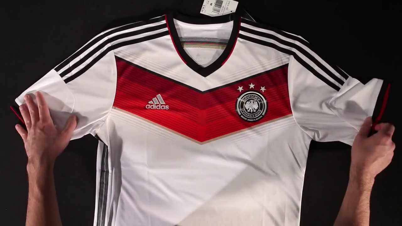 014ed442948 adidas Germany 2014 Home Soccer Jersey - Unboxing - YouTube