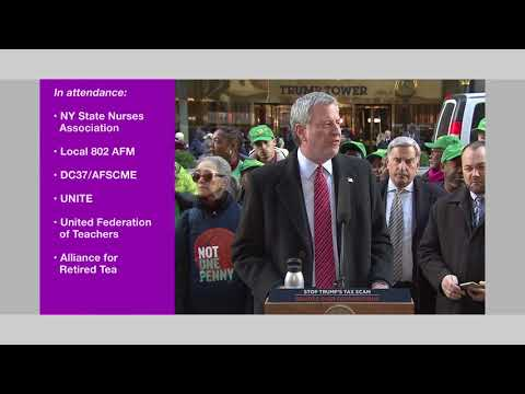 "Legislation Repeals ""Cabaret Law"", Rally Against Republican Tax Plan, Rockefeller Tree Lighting"