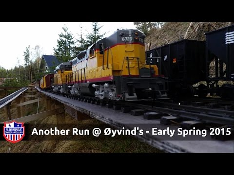 G Scale Trains – Garden Railway Train day – Spring 2015