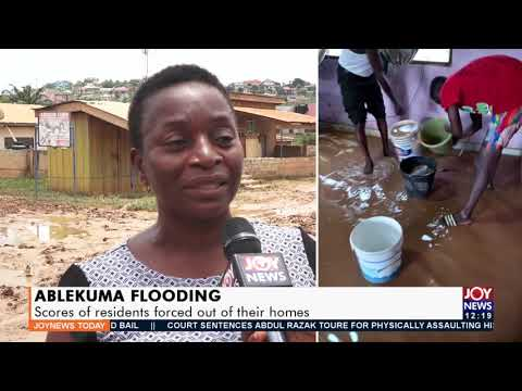 Ablekuma Flooding: Scores of residents forced out of their homes- Joy News Today (21-9-21)