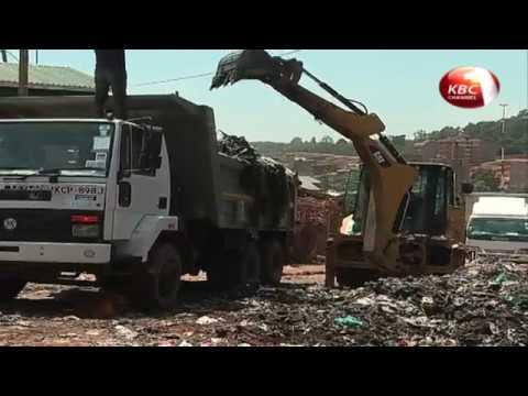 A 10 megawatt power plant under construction in Kibra