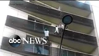 French citizenship, a job offered to man who scaled building to save child