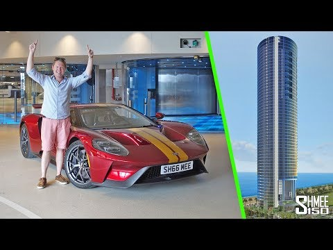 I Took My Ford GT Up to a 56th Floor Miami Penthouse!