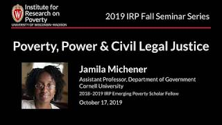 IRP Seminar, October 17, 2019 - Jamila Michener