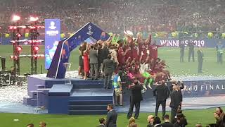 Liverpool Champion League 2019 Trophy Celebration