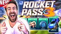 BUYING 100+ TIERS OF THE *NEW* ROCKET PASS 3 IN ROCKET LEAGUE