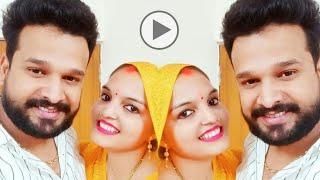पहली बार रितेश पांडेय ने अपनी पत्नी संग किया ये वीडियो शेयर