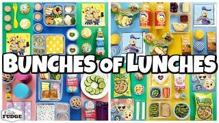 FUN and EASY School Lunch Ideas + What They Ate 🍎 BUNCHES of LUNCHES