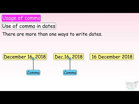 Rules for Using Commas  (Part- 3)   English   Grade-5   Tutway  
