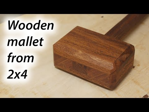 Woodworking mallet from 2x4