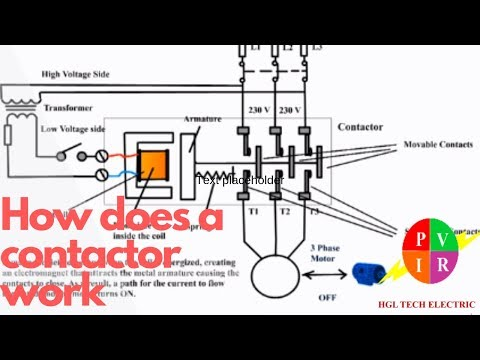 how does a contactor work  what is a contactor  contactor wiring diagram  -  youtube