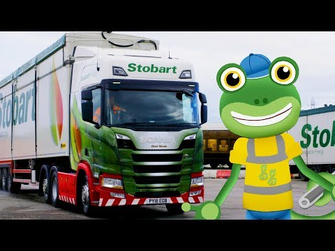 Gecko And The Big Lorry! Gecko's Real Vehicles | Trucks, Lorrys, Buses And More | Learning For Kids