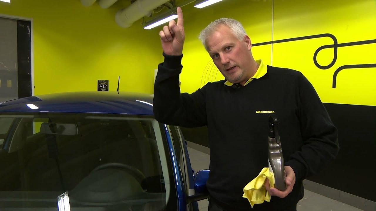 rengöra bilruta invändigt
