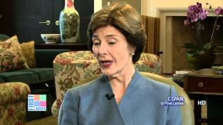Former First Lady Laura Bush talks about whether the First Lady should receive a salary in an exclusive interview with C-SPAN for its First Ladies series.
