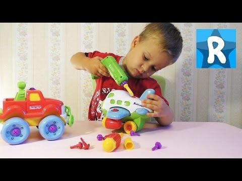 ★ Самолет - Конструктор BUILD PLAY + Машинка. Игрушки и Игры для мальчиков Build&Play Keenway