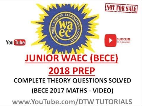 mathematics question for jss3 bece examination