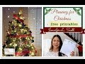 Planning for Christmas + Free Printable | Jennifer L. Scott
