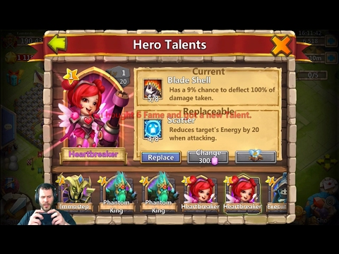 Rolling 57000 Gems For HeartBreaker + Talents Castle Clash
