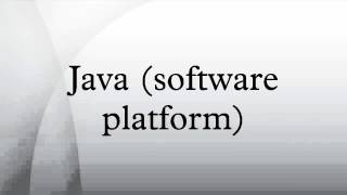 Java (software platform)