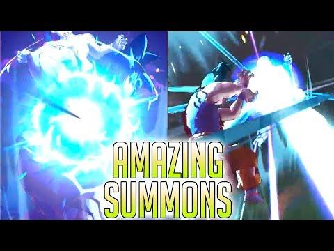INSTANT TRANSMISSION ANIMATION TRIPLE SPARKING SUMMON!? Dragon Ball Legends   DB Legends